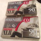 Lot of 2 MAXELL HIGH BIAS XLII 90 minute audio cassette NEW AND SEALED