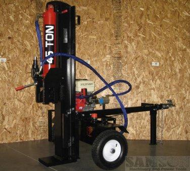 45 Ton Hydraulic GAS Powered 15HP Log / Wood Splitter 4 Way Wedge Electric Start