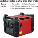 3.2KW 3200 Watt Digital Inverter Generator Gas Gasoline Backup Power