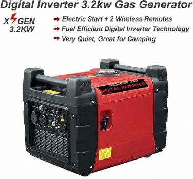 3.2KW 3200 Watt Digital Inverter Generator Gas Gasoline Backup Power