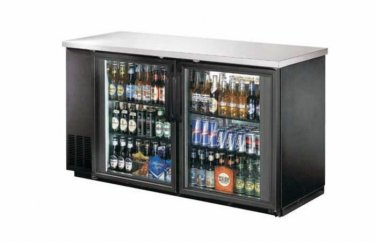"60"" Back Bar Beer Bottle Cooler Refrigerator w/ Stainless Top UBB-24-60G"