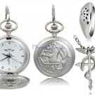Anime Fullmetal Alchemist Design Pocket Watch, Ring & Necklace Set