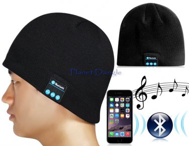 Bluetooth Knit Beanie with Hands-free Calls, Music Function V3.0+EDR (Black)