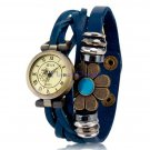 Women's Beaded Antiqued Bronze Charm Bracelet Watch
