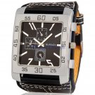 Men's Analog Fashion Large Square Dial Stylish Wrist Watch