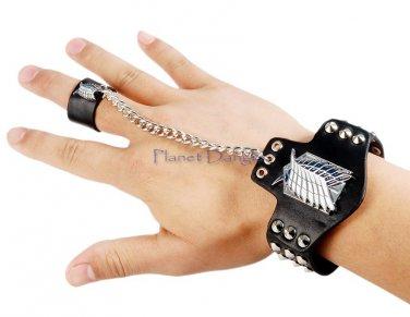 Manga Anime Attack on Titan Inspired Bracelet Wristband (Black)