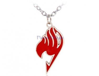 Anime Manga Fairy Tail Design Pendant Necklace (Red)