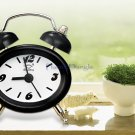 Mini Retro Style Iron Bell Alarm Clock (Black)