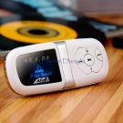 """1.1"""" Screen  MP3 Player with mini Speaker Card Reader (Silver)"""