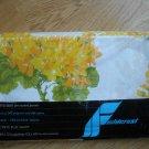 Vintage Fieldcrest Forever Spring Yellow Orange Flower Twin Flat Sheet 180 NEW