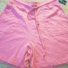 Nick & Sarah Sport HOT Pink Shorts Size S Jersey Cotton Pockets Drawstring  NEW