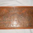 Embossed Tin Metal Stamped pressed LAST SUPPER Picture Jesus Disciples Framed