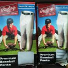 Set of 2 Boys Youth Rawlings Baseball Pants XL Gray Premium XLarge Double Knee