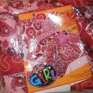 Glam Girl Full Size Comforter Flower Red Rust NEW Tiedyed Geometric Reversable