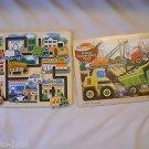 Set of 2 Vehicle Puzzles 12 Pc Construction Site Maze Puzzle Wooden Melissa Doug