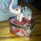 Things Remembered Elephant Jeweled Treasure Box Hinge Lid Marilyn Trunk Up  NEW