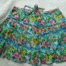 Aeropostale Floral Skirt Short Size M Flower Mini Cotton Lined Tiered Ruffle NEW