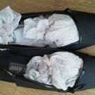 Easy Street Ladies shoes Slingback Heel Satin Black Easy Flex size 10B Photo Sam