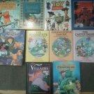 Set 10 DISNEY Toy Story Aladdin Mickey Pooh Villains Monsters Inc Reading books