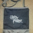 Harry Potter Purse Jeweled Dark Blue Denim Zipper Long Handle Shoulder Bag