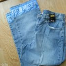 Ladies NY JEANS Cropped Light Blue Pants 5 Pocket Size 12 NEW York Cotton 5 Pock