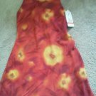 Ladies J D Stone Dress Sheath Size 4 Sleeveless Gathered back Red Or Floral NEW