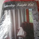 Berry Burgundy Lace Fabric Shower Curtain Saturday Knight Krista Berrystain NEW