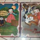 Set of 2 Betty Boop Tin Metal Big Signs Scarlet Don't give a Piano Play it again