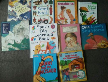 Set 10 Beginner Veggie Tales Truck Danny Spot Lift Flap Reading books Children