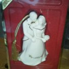 Lenox Bride and Groom 2003 Wh Ornament Gold Trim Cake Topper Figure statue NEW