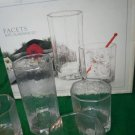 Set of 16 Vintage Libbey FunDamentals Facets Design Style Glasses Tall Short NEW