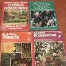 Set of 4 ORTHO Rodales Books Houseplants Landscape Prob Weeds Perennial Gardens