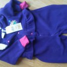 Girls Snowsuit 24 Mos In Design Teddy Purple Soft Thick Ruffle Fleese Snap NEW