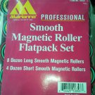 Gross of Magnetic Hair Curlers Smooth Flatpack Set 96 Long 48 short 12 Dozen NEW