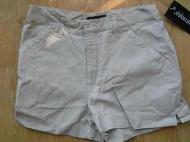 Xhilaration Cargo Shorts Size 7 Peeble Stone Beige 3 pockets Cotton casual NEW
