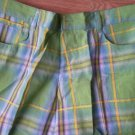 Men BTL Vintage Shorts Bright Green plaid Sz 40 Tanglewood Blue Yellow Golf NEW