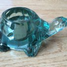 Green Glass Turtle Candle Jewelry Rings Coin Toothpick Holder Ash tray Bowl NEW