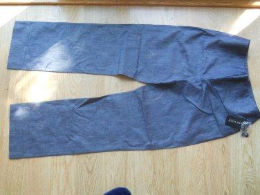 Ladies Anne Klein New York Size 6 Indigo Blue Flat Front Zipper Cotton Blend NEW