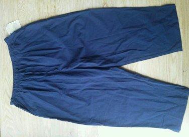 Bobbie Brooks clamdigger Pants Size 12/14  L Dark Navy Pedalpushers Elastic NEW