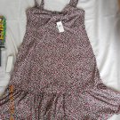Ladies ANN TAYLOR Sundress Stretch Spandex Size Small Gathered Bust Ruffled Trim