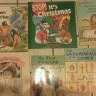 Set 10 Religious kids First Bible Prayers Sacraments Adam Reading books Children