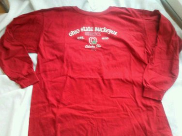 Ohio State Buckeyes Shirt  Athletics Size M Long Sleeve Columbus Cotton New Red