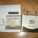 Malden 50th ANNIVERSARY 4 x 6 Ringed Flip Album Goldtone Silver 40 pictures NEW