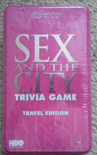 Sex in the City TriviaTravel Game Metal Box Tin HBO Humor Glamour Friendship New