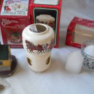 Set of 3 Holiday Scents Candles Potpourri Room Scenter Incense Ceramic House NEW