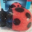 Lady Bug Accent Lamp Novelty Student Lounge 9 inch Long 3 1/2 high Black Red New
