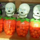Set of 6 HiLco Co Halloween Bobbleheads Skelton Dracula Witch Bobble Heads 2004