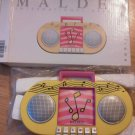 Malden Radio Picture Frame Photo Colorful Yellow Buttons 8 x 4 with 2.5 Sq NEW