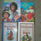 Set 4 Religious Books Catholic Picture Bible Jesus Reading Devotionals Children