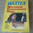 Set of 2 WAXTEX 60 each Microwave Convenience Bags Lunch and Snacks Sandwich NEW